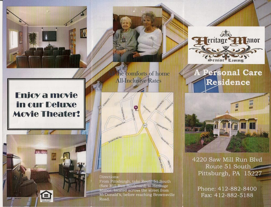 BROCHURE – Heritage Manor Senior Living